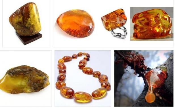 Огненный янтарь - благородный камень (14 фото)