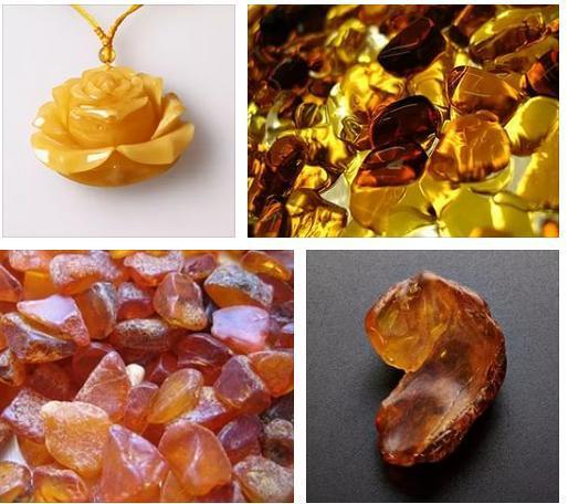 Фото кулона из камня янтаря желтого цвета
