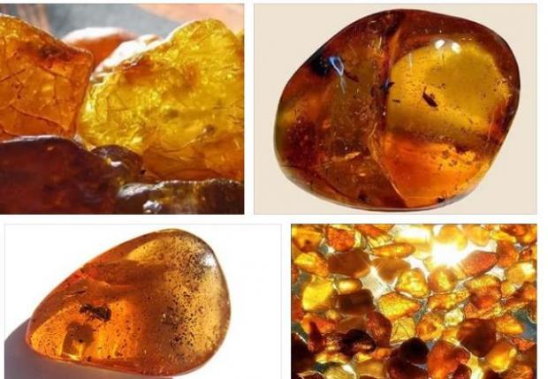 Красивое фото янтаря - очень сочный цвет камня